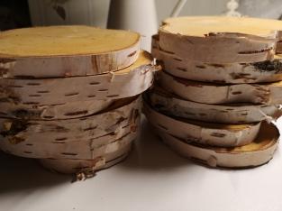 Holzscheiben klein Birke